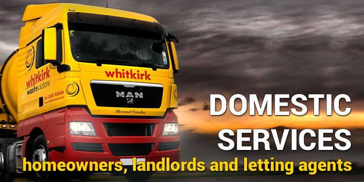 DOMESTIC WASTE SERVICES<br> Homeowners, landlords & letting agents