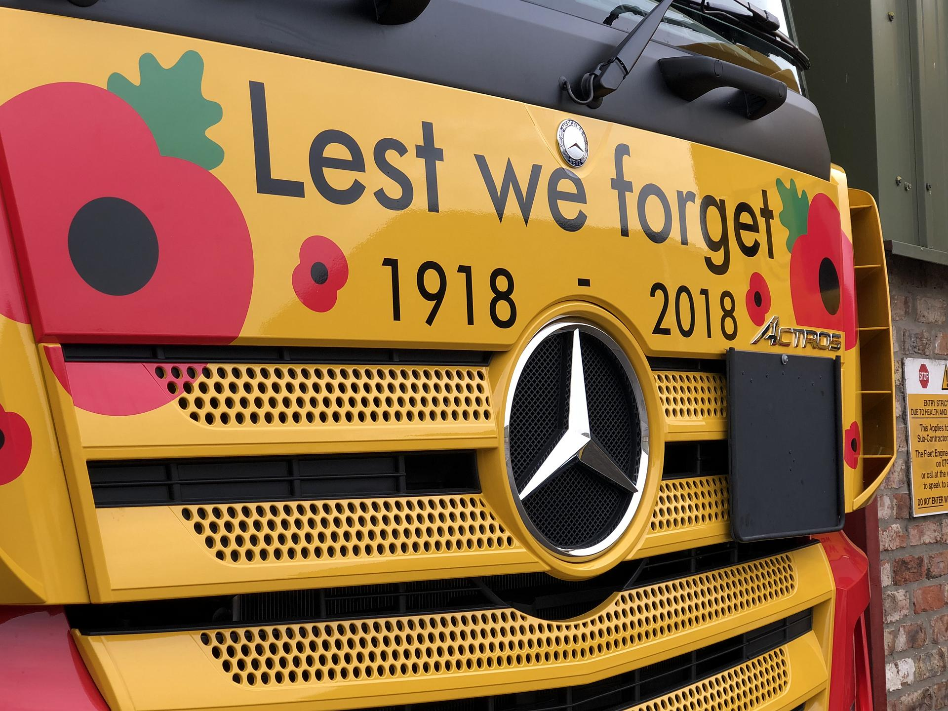 WW1 Centenary truck supporting Help for Heroes plus exciting competition to win a WW1 tour of the Battlefields for 2 people